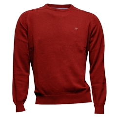 New 2018 Fynch Hatton Superfine Cotton Crew Neck - Ruby