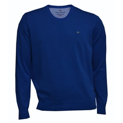 New 2018 Fynch Hatton Superfine Cotton Crew Neck - Atlantic
