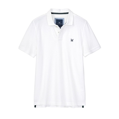 New 2018 Crew Men's Pique Polo - White