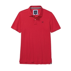 New 2018 Crew Men's Pique Polo - Crimson