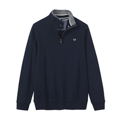 New 2018 Crew Men's Classic 1/2 Zip Swear - Dark Navy