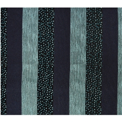 Mens Woven Silk Pocket Handkerchief - Teal and Navy Stripes