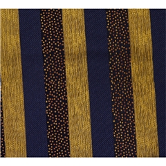 Mens Woven Silk Pocket Handkerchief - Gold and Navy Stripes