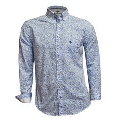 New 2018 Fynch Hatton Shirt - Blue Flower