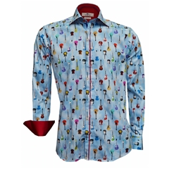 New 2018 Claudio Lugli Guitar Shirt - Blue
