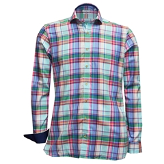 New 2018 Giordano Shirt - Multi Madras Check