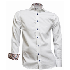 New 2018 Oscar Shirt - White with contrast trim and buttons