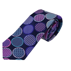 Van Buck Limited Edition - Navy Spot Design Tie