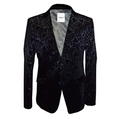 New 2018 Claudio Lugli Jacket Black Flocked Design