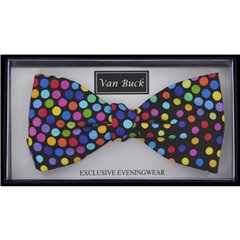 Van Buck - Multi Polka Dot Design Bow Tie