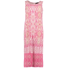 New 2018 Pomodoro Patterned Sleeveless Maxi Dress - Pink