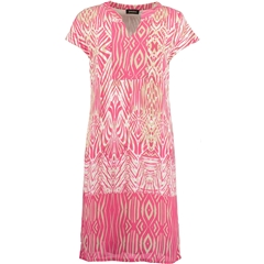 New 2018 Pomodoro Patterned T-shirt dress - Pink