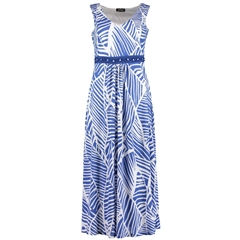 New 2018 Pomodoro Summer Maxi Dress - Cobalt