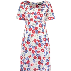 New 2018 Pomodoro Floral Dress - Red and Blue