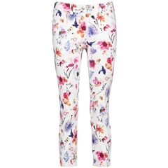 New 2018 Gerry Weber Jeans with Floral Print - White
