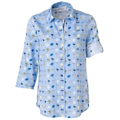 New 2018 Just White Parasol/flamingo Shirt - Blue