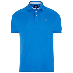 New 2018 Hackett Print Polo - Cobalt
