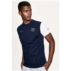 New 2018 Hackett Aston Martin Racing Logo Tee - Navy
