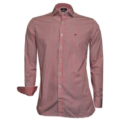 New 2018 Hackett Painted Bengal Stripe Shirt - Red
