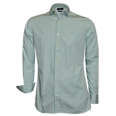 New 2018 Hackett Painted Bengal Stripe Shirt - Mint