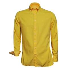 New 2018 Hackett Cotton Oxford Shirt - Soft Yellow