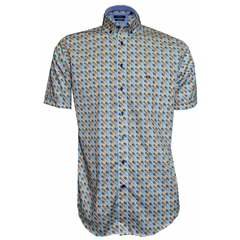 New 2018 Giordano Shirt - Multi Diamonds - Regular Fit