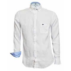 New 2018 Fynch Hatton Linen Shirt - White