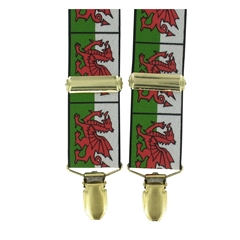 Welsh Flag Braces