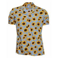 New 2018 Giordano Hawaiian Shirt - Sunflowers