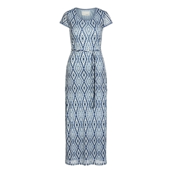 New 2018 Oui Jersey Maxi Dress - Blue White