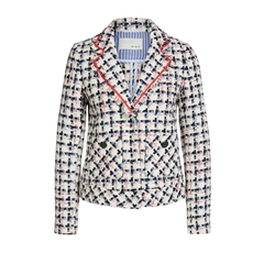 New 2018 Oui Check Print Blazer with pocket detail - Multi