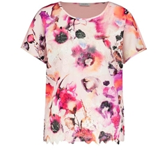 New 2018 Gerry Weber Lace Printed top - Cora/Pink