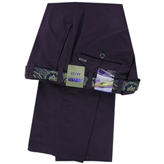 New 2018 Meyer Cotton Trouser - Deep Purple - Oslo 5003 58