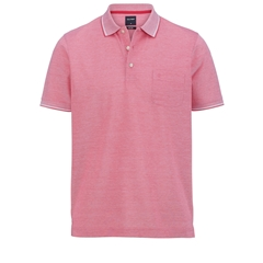 Olymp Polo - Modern Fit - Textured  Red