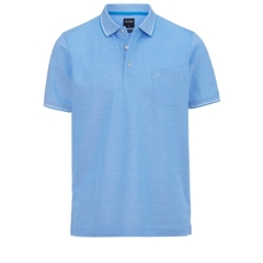 Olymp Polo - Modern Fit - Textured Ocean Blue