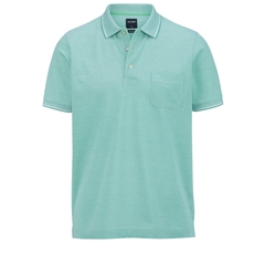 Olymp Polo - Modern Fit - Textured Green
