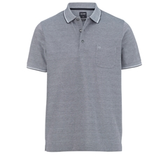 Olymp Polo - Modern Fit - Textured Midnight Blue