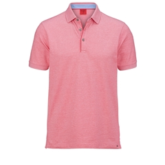 Olymp Polo - Body Fit - Textured  Red