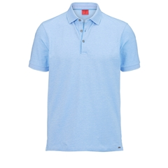 Olymp Polo - Body Fit - Textured  Ocean Blue