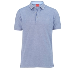 Olymp Polo - Body Fit - Textured  Navy