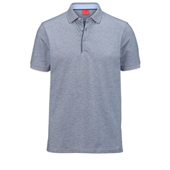 Olymp Polo - Body Fit - Textured  Midnight Blue