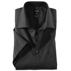 Olymp Modern Fit Half Sleeved Shirt - Black - 0300 12 68