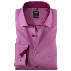 Olymp Modern Fit Contrast Collar Shirt - Purple - 0400 64 81