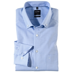 Olymp Modern Fit Shirt Button Down Collar- Blue Check - 0512 64 11