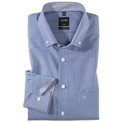 Olymp Modern Fit Shirt Button Down Collar- Navy Check - 0512 64 19