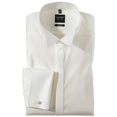 Olymp Level Five Beige Evening Dress Shirt - Body Fit
