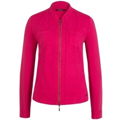 New 2018 Olsen Zipped Linen Jacket - Fuschia