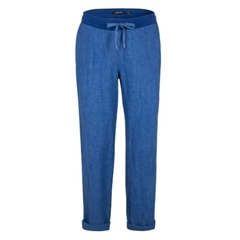 New 2018 Olsen Lisa Linen Trousers - Blue