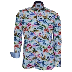 New 2018 Giordano Shirt -  Multi Coloured Swirls