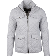 New 2018 Barbour Women's Formby Quilted Jacket - Ice White